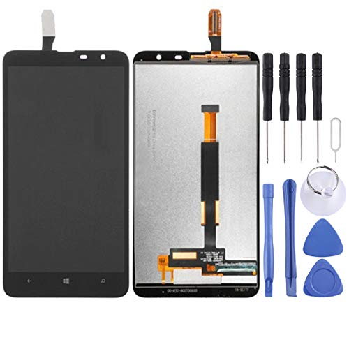 Watemallment LCD Screen Touch Screen Replacement LCD Repair Broken LCD Screen and Digitizer Full Assembly for Nokia Lumia 1320(Black) Touch Screen (Color : Black) (Nokia 1320 Touch Screen)