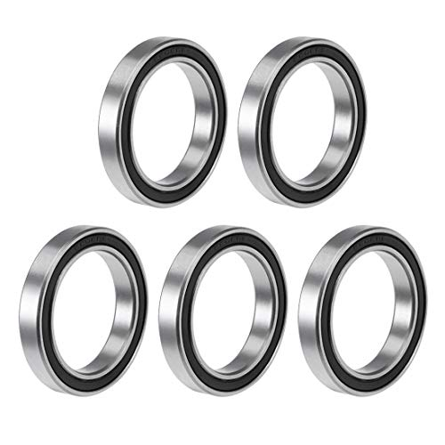 uxcell 6806-2RS Deep Groove Ball Bearing 30x42x7mm Double Sealed ABEC-3 Bearings 5-Pack