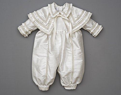 Heirloom Baby Boy's Christening Baptism Gown, Hand Made Ivory (Burbvus Ropones) by Burbvus (Image #7)