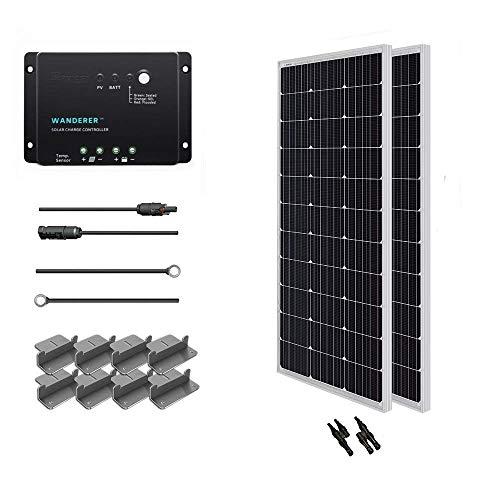 Renogy 200 Watt 12 Volt Monocrystalline Solar Starter Kit with