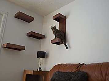 Cat Furniture Wall Shelves Wood With Cushions Set Of 4
