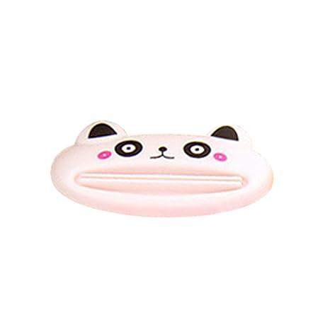 display08 dibujos animados pasta de dientes dispensador de tubo de baño Rolling soporte fácil exprimidor herramienta