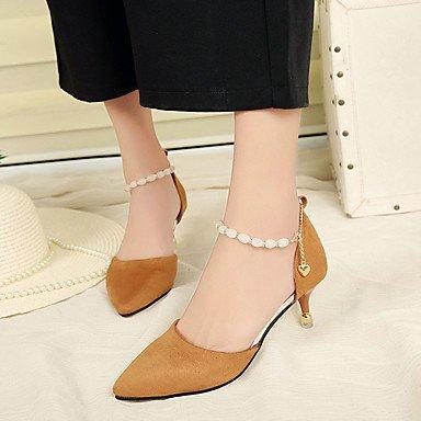 Femme Chaussures Aiguille Rose 5 2 5 Eté camel Noir Travail à à 4 Talon LvYuan Talons ggx cm Polyuréthane Habillé Chameau 7xCwWv5qE