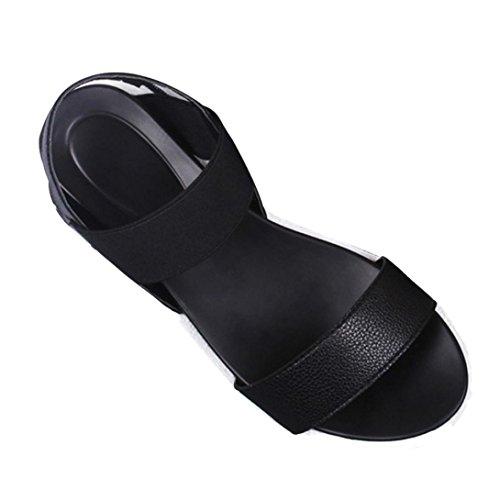Deesee (tm) Damessandalen Sandalen Peep-toe Lage Schoenen Romeinse Sandalen Damesslippers Zwart