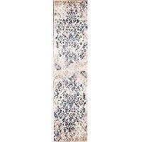 Rug Source Floral Machine Made Turkish Oriental Wool Rug Runner for Hallways