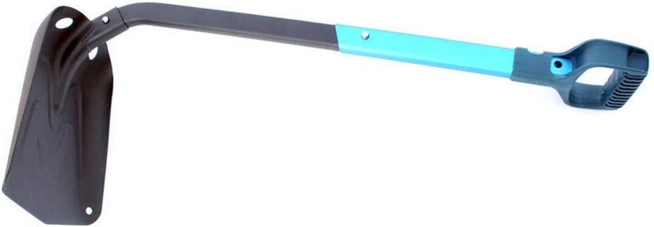 Leikance Pelle /à neige pliable multifonction en alliage daluminium avec long manche en forme de D
