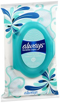 Always Fresh & Clean Feminine Wipes - 32 Count, Pack of 6