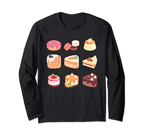 Yummy Cake Dessert Challenge Emoji Design Long Sleeve T-Shirt
