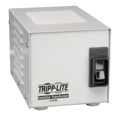 Tripp Lite IS250HG Isolation Transformer 250W Medical Surge 120V 2 Outlet TAA GSA - 250w Electronic Transformer