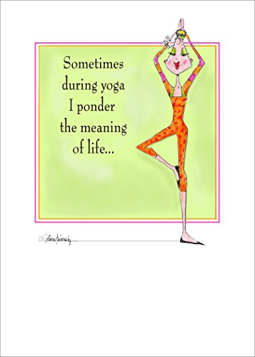 Yoga Ponder - funny women birthday card by Collene Kennedy
