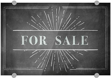 18x12 for Sale Chalk Burst Premium Brushed Aluminum Sign CGSignLab 5-Pack