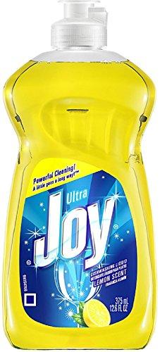 Joy Ultra Dishwashing Liquid, Lemon Scent 12.60 oz (Pack of 8)