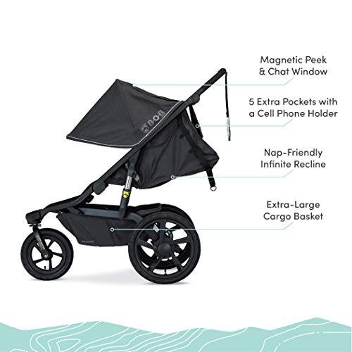 41g6UZ O7sL - BOB Gear Alterrain Jogging Stroller | Quick Fold + Adjustable Handlebar + XL UPF 50+ Canopy, Melange Black