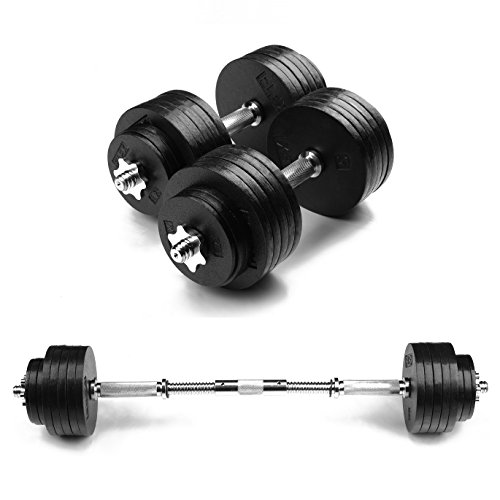 FlexiMuscle Adjustable Dumbbells Set with Dumbbells to Barbell Connector and Weightlifting Gloves (52.5LB, 67.5LB, 105LB, 135LB, 200LB)