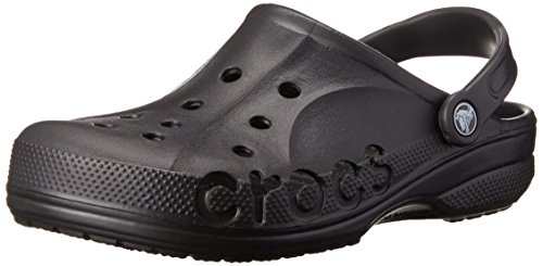 crocs Unisex Baya Clog, Black, 7 M (D) US Men / 9 M (B) US Women
