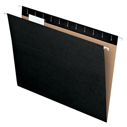 Pendaflex Essentials Hanging Folders, Letter Size, Black, 25 per Box (81605)