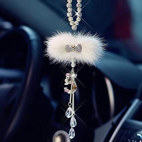 Crystal Snowflake Car Rear View Mirror Hanging Accessories B SZWGMY Car Mirror Pendant,Crystal Car Rear View Mirror Pendant Hanging Decorations Ornament
