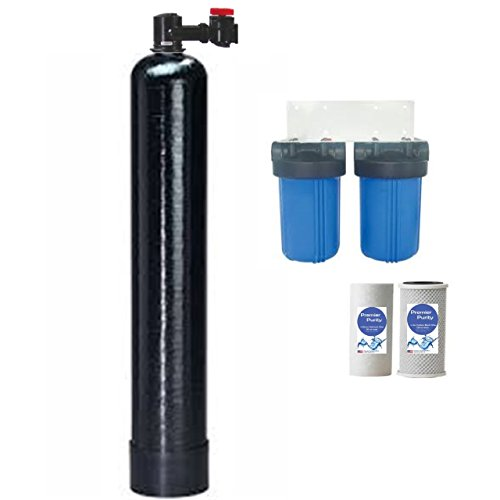 (PREMIER Whole House Salt Free + Anti Scale Water Softening & Conditioning System + 2 Big Blue Water Filter System)