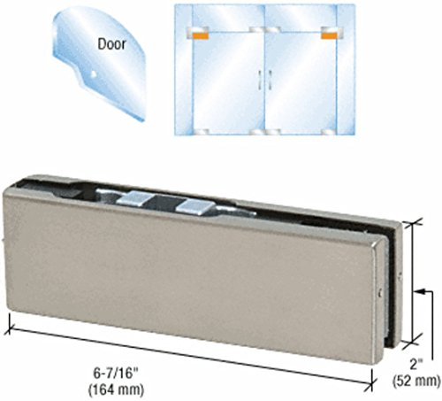 CRL Brushed Stainless Adjustable North AmericanTop Door Patch Fitting by C.R. Laurence