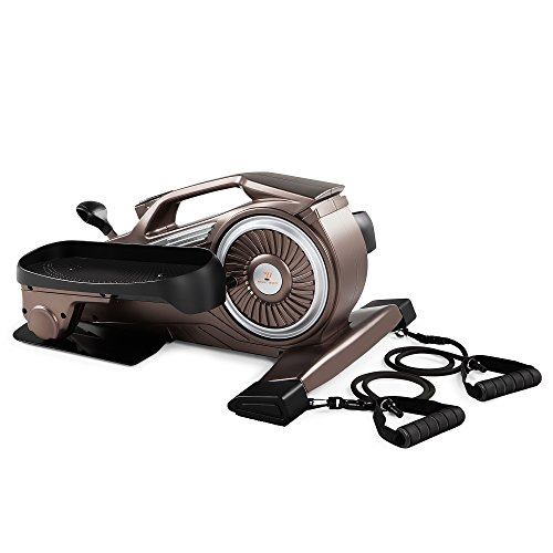 Bionic Body Magnetic Tension Under-Desk Elliptical Mini Stepper Trainer with Resistance Tubes NS-1009 in USA