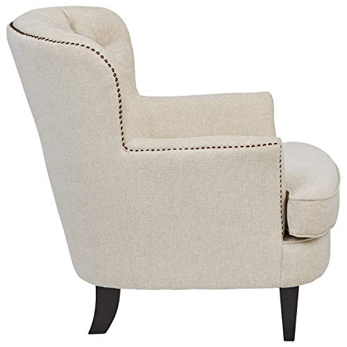 Ravenna Home Semple Button Tufted Nailhead Trim Accent Chair, 33