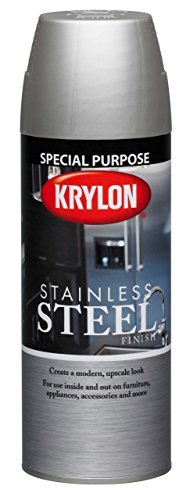 Krylon K02400000 Stainless Steel Finish Aerosol Spray Paint, 11-Ounce, Stainless Steel by Krylon