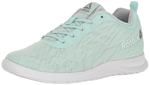 Reebok Women's Walk Ahead MT Running Shoe, Mist/Skull Grey/White/Em, 8 M US