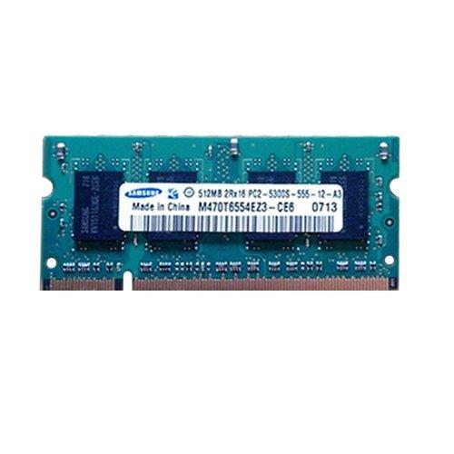 Cheap Memory Samsung 512MB PC2-5300 DDR2-667 Non-ECC Unbuffered M470T6554EZ3-CE6
