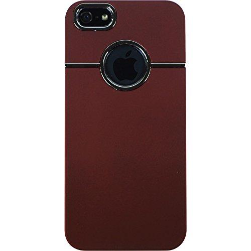 PhoneNatic Case für Apple iPhone 5 / 5s / SE Hülle rot gummiert Hard-case für iPhone 5 / 5s / SE + 2 Schutzfolien
