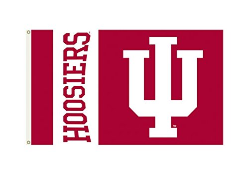 - NCAA Indiana Hoosiers 3-by-5 Foot Flag with Grommets