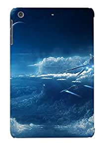 Podiumjiwrp Top Quality Rugged Spaceships Over The Clouds Case Cover Deisgn For Ipad Mini/mini 2 For Lovers