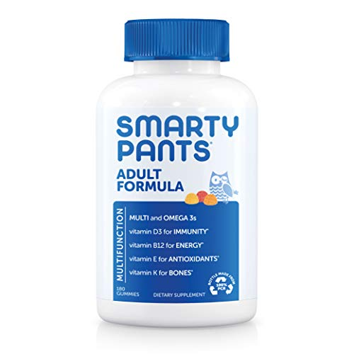 Daily Gummy Multivitamin Adult: Vitamin C, D3, & Zinc for Immunity, Omega 3 Fish Oil (DHA/EPA), Iodine, Choline, Vitamin…