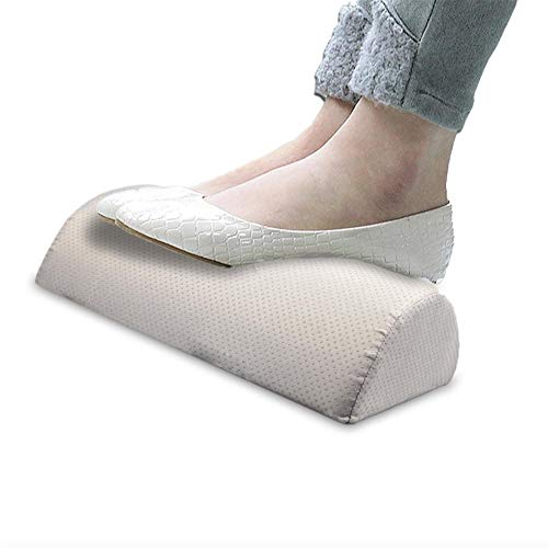 (Portable Foot Rest Travel Plane Footrest Soft Breathable Washable Foot Cushioned Pillow for Home Office Desk Slow Rebound Elastic Cotton Footrest Pad)