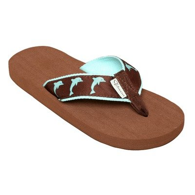 - Tidewater Women's Seersucker Anchors Sandals Turquoise/Navy/White 11