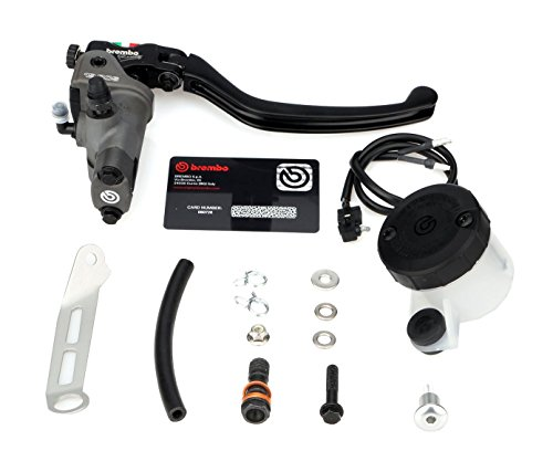 - Brembo 19RCS Forged Brake Master Cylinder with Folding Lever For 7/8-Inch Handlebars and Brake Reservoir Mounting Kit