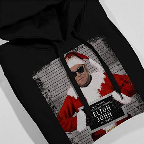 Mugshot Hooded John Sweatshirt Elton Christmas Black Women's AvaqP