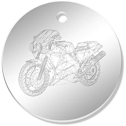 Azeeda 11 x 34mm 'Wireframe Superbike' Mirror Pendants / Charms (PN00026393)