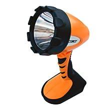 Dorcy 41-4296 Swivel Head Led Spotlight With Locking Trigger, 300-lumens, Yellow Finish