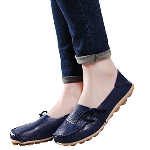 Blu Espadrillas Stile Piatto Col Donna 1 Comfort Tacco Pompe Basso Scarpe Casuali Scarpe Vogstyle xOzw1p