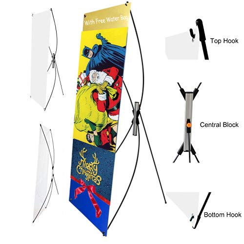 Premium Adjustable X Banner Stand Portable and Removable Tripod Store Sign Holder Fits for Poster Display with The Size from 23