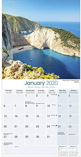 LES CYCLADES bt CORFOU PAYSAGES DE REVES +offert un agenda de poche 2020 - BELLES PLAGES CALENDRIER 2020 GRECE