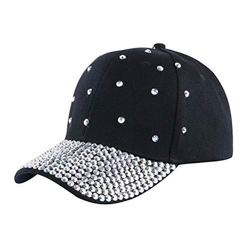 LONIY Women Baseball Cap Hats Handmade Rhinestone Beads Bling Luxury hat Girl Beauty Casual caps