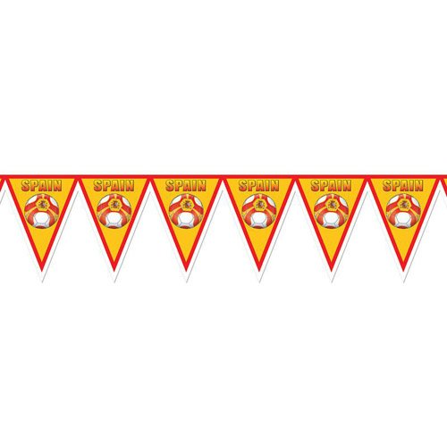 Soccer Pennant Banner - Spain 12'' x 7' Party Accessory by Beistle