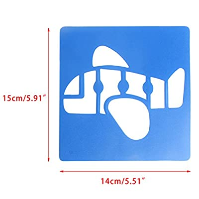 HOWWOH Painting Tool, 6X Children Transport Shaped Plastic Painting Drawing Template Stencil Kids Toy - Color Randomly: Home & Kitchen