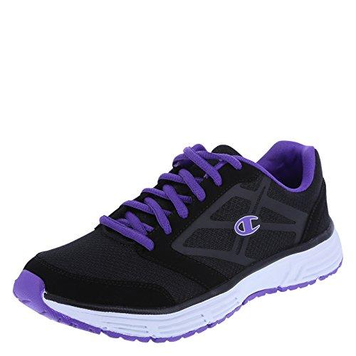 Champion Women's Black Purple Women's Pulse Aerolite Runner 10 Regular (Womens Running Shoes Champion compare prices)