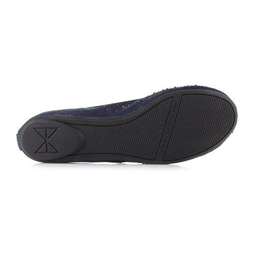Butterfly Twists Womens Christina Denim Blue Flat Ballerina Shoes Size xUtX1
