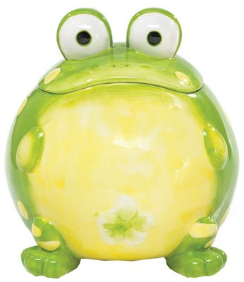 Toby The Toad Frog Cookie Jar Canister For Kitchen Decor And Food Storage Toby The Toad Collection BURTON-664381