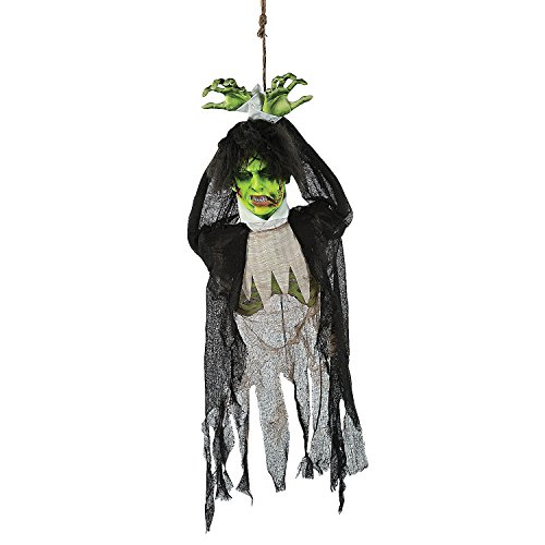 Animated Hanging Zombie Decoration with Lights, Sound and (Halloween Decorations Oriental Trading)
