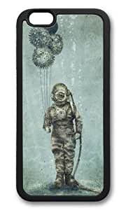 Apple Iphone 6 Case,WENJORS Awesome Balloon Fish Soft Case Protective Shell Cell Phone Cover For Apple Iphone 6 (4.7 Inch) - TPU Black