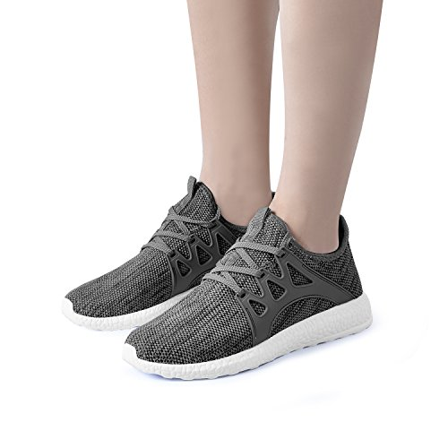 White Womens Shoes Running Tennis Casual Athletic QANSI Sneakers Grey 8xawPqwFg